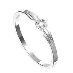 Zásnubní prsten s briliantem Leonka  011
