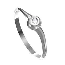 Zásnubní prsten s briliantem Leonka  015