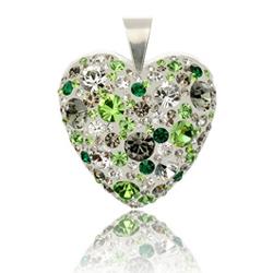 St��brn� p��v�sek s krystaly Swarovski Forest Heart