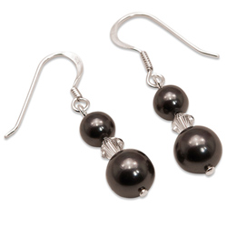 Náušnice s perlami Sunlit Pearl Black I