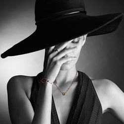Obrázek è. 8 k produktu: Støíbrný náramek Hot Diamonds Infinity Bead Pearl Large Rose Gold