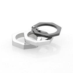Ocelový prsten Storm Hex