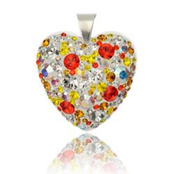 St��brn� p��v�sek s krystaly Swarovski Hyacint Sun Heart