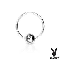 Piercing-kruh Playboy-černý K1003K