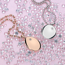 Obrázek è. 12 k produktu: Støíbrný pøívìsek Hot Diamonds Memoirs Oval Locket Rose