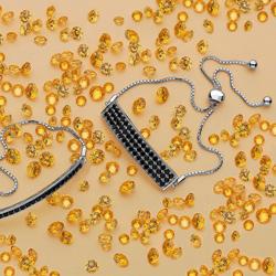 Obrázek è. 6 k produktu: Støíbrný náramek Hot Diamonds Crystal Black