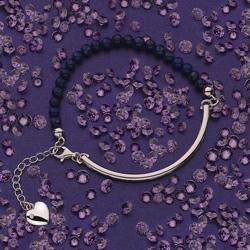 Obrázek è. 6 k produktu: Støíbrný náramek Hot Diamonds Festival Blue Lapis