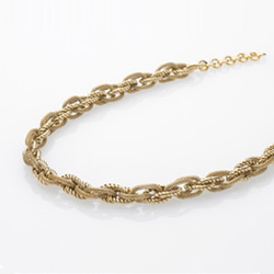 Ocelový náhrdelník Storm Leoni Gold