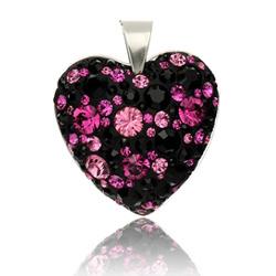 Stříbrný přívěsek s krystaly Swarovski Mauricius Heart
