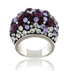 Prsten s krystaly Swarovski Violet Melancholy Large