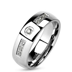 Dámský ocelový prsten se zirkonem OPR0094-6