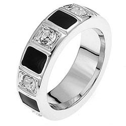 Prsten s krystaly Swarovski Oliver Weber Domino 41007L