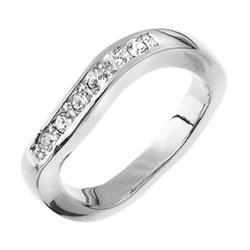 Prsten s krystaly Swarovski Oliver Weber Onda 41009