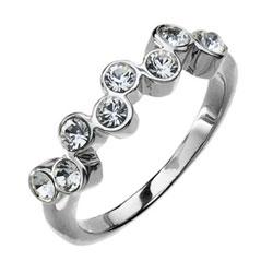 Prsten s krystaly Swarovski Oliver Weber Tip Tap 2415