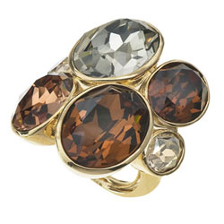 Prsten s krystaly Swarovski Oliver Weber Event 41029-220