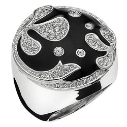 Prsten s krystaly Swarovski Oliver Weber Sogno 2423