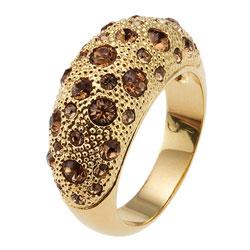 Prsten s krystaly Swarovski Oliver Weber Blame 2424-TOP