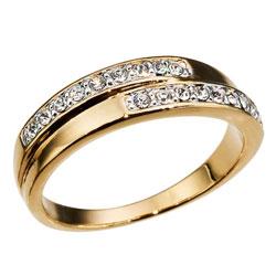 Prsten s krystaly Swarovski Oliver Weber Real 2429G