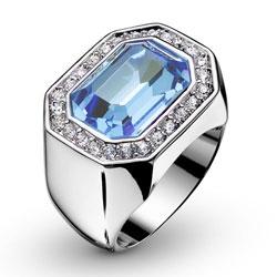 Prsten s krystaly Swarovski Oliver Weber Castello 2432-202
