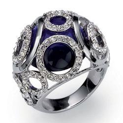 Prsten s krystaly Swarovski Oliver Weber Secret 2441
