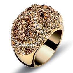 Prsten s krystaly Swarovski Oliver Weber Mystery 2445G