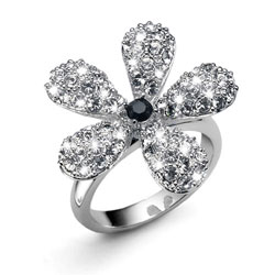 Prsten s krystaly Swarovski Oliver Weber Bloom 2448