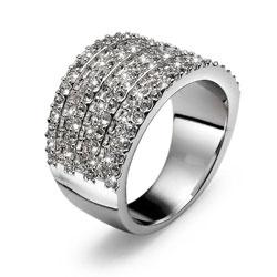 Prsten s krystaly Swarovski Oliver Weber Twinkle 2451R