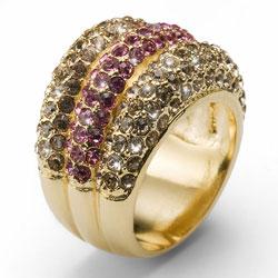 Prsten s krystaly Swarovski Oliver Weber Nobel 2454G-209