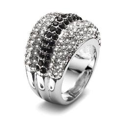 Prsten s krystaly Swarovski Oliver Weber Nobel 2454R