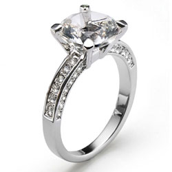 Prsten s krystaly Swarovski Oliver Weber Princess 2458-001