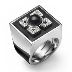 Prsten s krystaly Swarovski Oliver Weber Hoppen 2464-BLA