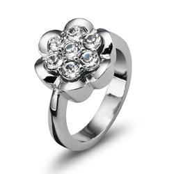 Prsten s krystaly Swarovski Oliver Weber Posy 2465