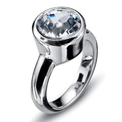 Prsten s krystaly Swarovski Oliver Weber Point 2472-001
