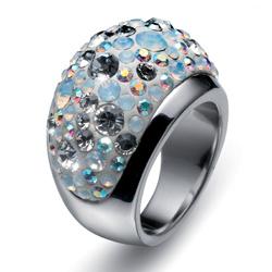 Prsten s krystaly Swarovski Oliver Weber Couleur 2479-001
