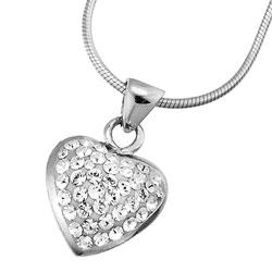 Stříbrný přívěsek s krystaly Swarovski Oliver Weber Loveheart 61012-001