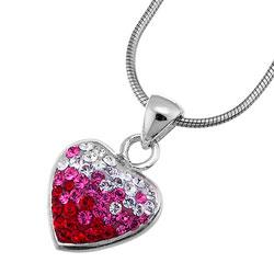 Stříbrný přívěsek s krystaly Swarovski Oliver Weber Loveheart 61012-RED