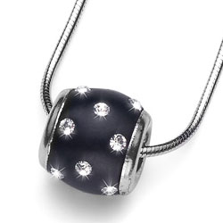 Støíbrný pøívìsek s krystaly Swarovski Oliver Weber Doty 7578-BLA
