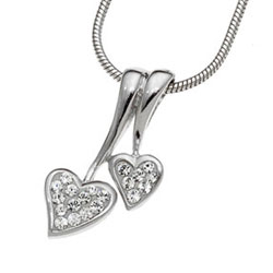 Stříbrný přívěsek s krystaly Swarovski Oliver Weber Lovers 61049-001