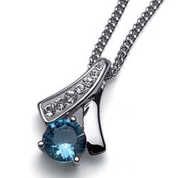 Stříbrný přívěsek s krystaly Swarovski Oliver Weber Nice 61068-BLU
