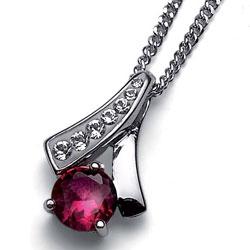 Stříbrný přívěsek s krystaly Swarovski Oliver Weber Nice 61068-RED