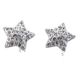 Stříbrné náušnice s krystaly Swarovski Oliver Weber Star 62009-001