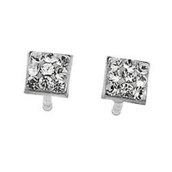 Støíbrné náušnice s krystaly Swarovski Oliver Weber Punto 62025-001
