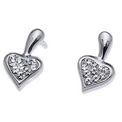 Stříbrné náušnice s krystaly Swarovski Oliver Weber Lovers 62028-001
