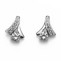 Stříbrné náušnice s krystaly Swarovski Oliver Weber Nice 62042-001