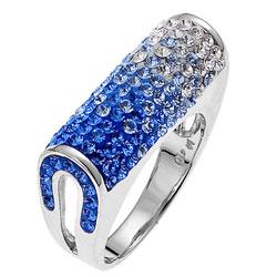 Støíbrný prsten s krystaly Swarovski Oliver Weber Sophistication 7700-BLU