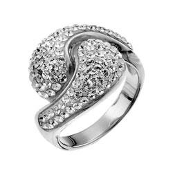 Støíbrný prsten s krystaly Swarovski Oliver Weber Sensibility 7708-001