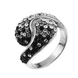 Støíbrný prsten s krystaly Swarovski Oliver Weber Sensibility 7708-BLA
