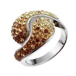 Støíbrný prsten s krystaly Swarovski Oliver Weber Sensibility 7708-TOP