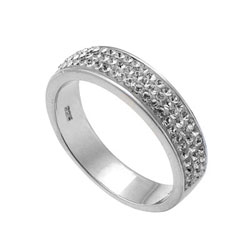 Støíbrný prsten s krystaly Swarovski Oliver Weber Basic 63011-001