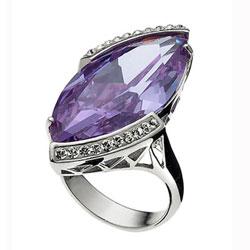 St��brn� prsten s krystaly Swarovski Oliver Weber Drama 7714-VIO